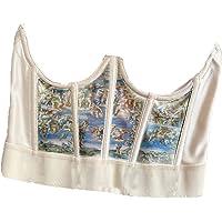 Womens Fashion Push Up Bustier Corset Top Elastic Waist Belt Boned Retro Slim Crop Tank Tops Sexy Underbust Corset Crop…