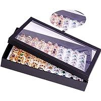 100 Ring Jewellery Display Storage Box Tray Show Case Organiser Earring Holder