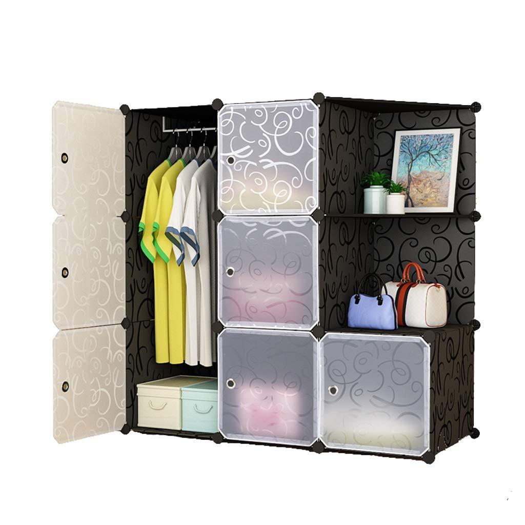 Jurass Easy to Disassemble DIY Hanging Wardrobe,Modern Portable Clothes Toy Storage Storage Box, Space Saving Deeper Cube, Assembled Wardrobe Closet by Jurass