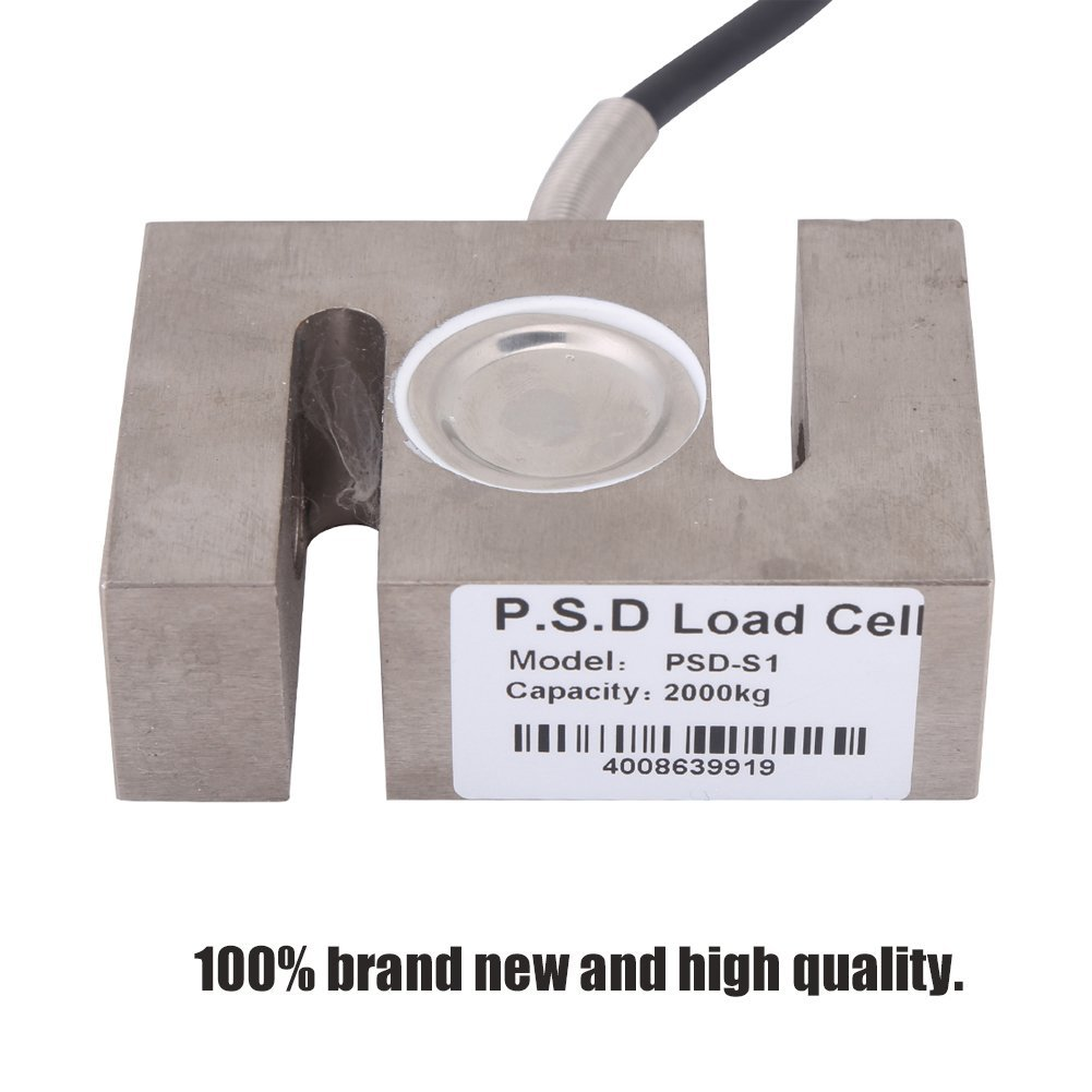 100kg Portable S-Type Beam High-Precision Load Cell Scale Sensor 50//100// 300//2000 KG for Hopper Weight High Pressure Tension Weighing