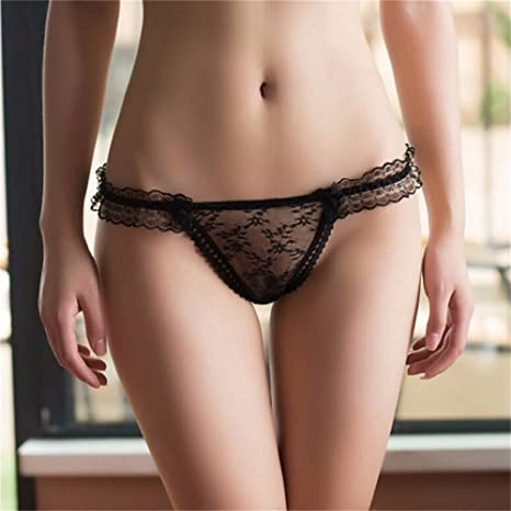 4a70165a74b 1 PC Women Sexy Panties Knickers Bikini Lingerie Hollow Flower Big Bow-knot Lace  Thongs