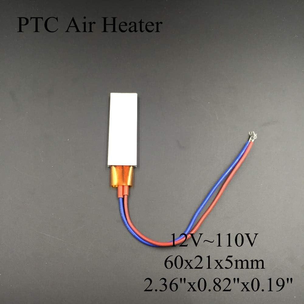 Tool Parts (5 pieces/lot) 12V/24V/36V/48V/110V 60x21x5mm PTC Thermostat Aluminum Heating Element Ceramic Air Heater Plate Chips Incubator - (Color: 12V 80C 14W)