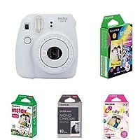 Fujifilm Instax Mini 9 Kamera smoky weiß mit Film Box