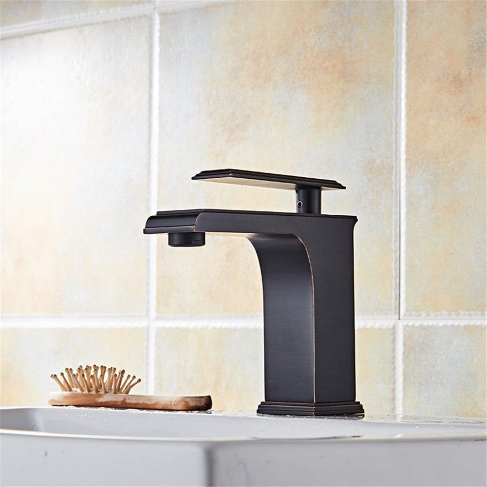 MEIBATH Waschtischarmatur Badezimmer Waschbecken Wasserhahn Küchenarmaturen Messing antik 1 Bohrung Küchen Wasserhahn Badarmatur
