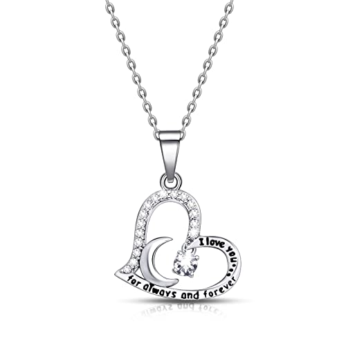 IvyAnan Jewellery Birthday Gift For Women I Love You Dancing Birthstone April Necklace Jewelry