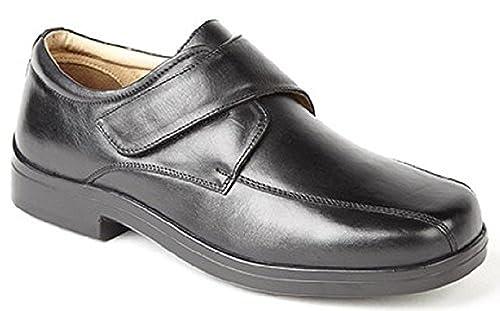 cd555a06 H1120 Roamers Superlite X Wide Velcro, Color: Black: Amazon.co.uk: Shoes &  Bags