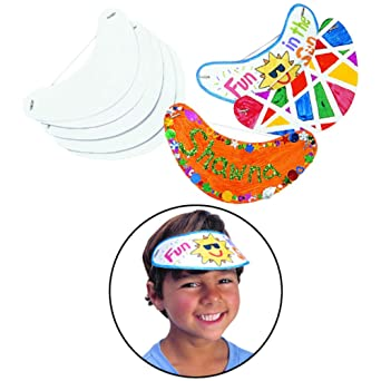 bf4b3604 Amazon.com: Colorations Decorate Your Own Visors - Set of 24 (Item #  VISORHAT): Industrial & Scientific
