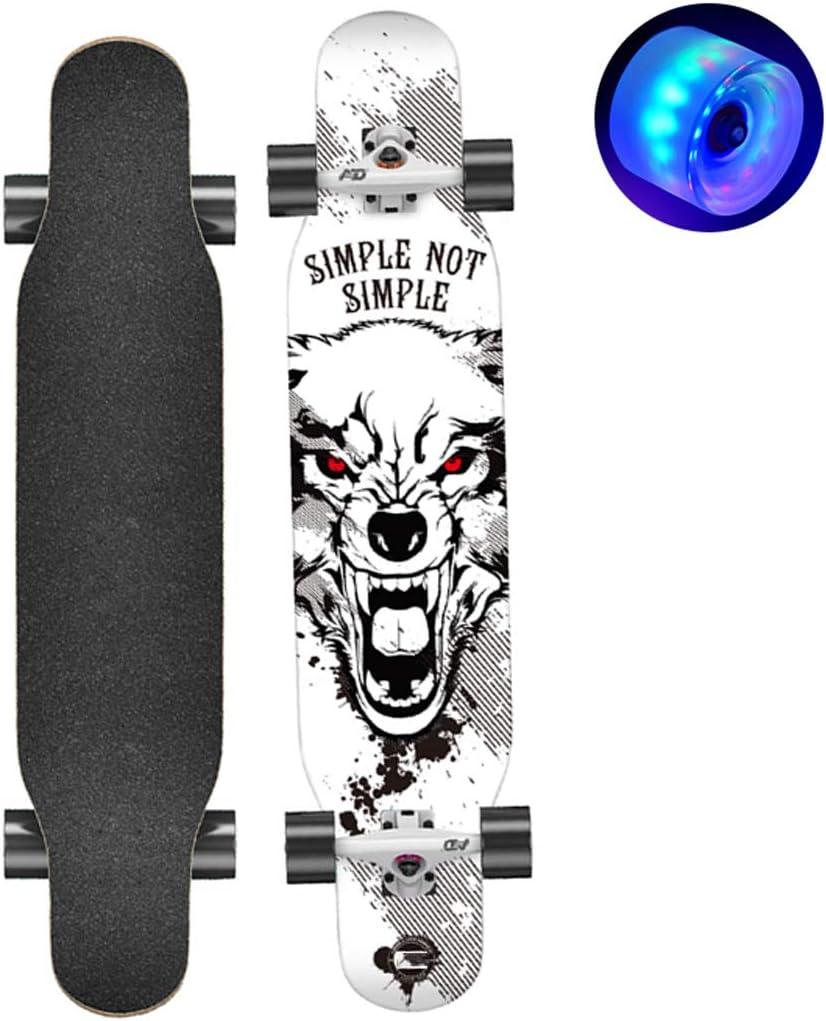 42/'/' Longboard Skateboard Drop Through Deck Complete Maple Cruiser W//Flash Wheel