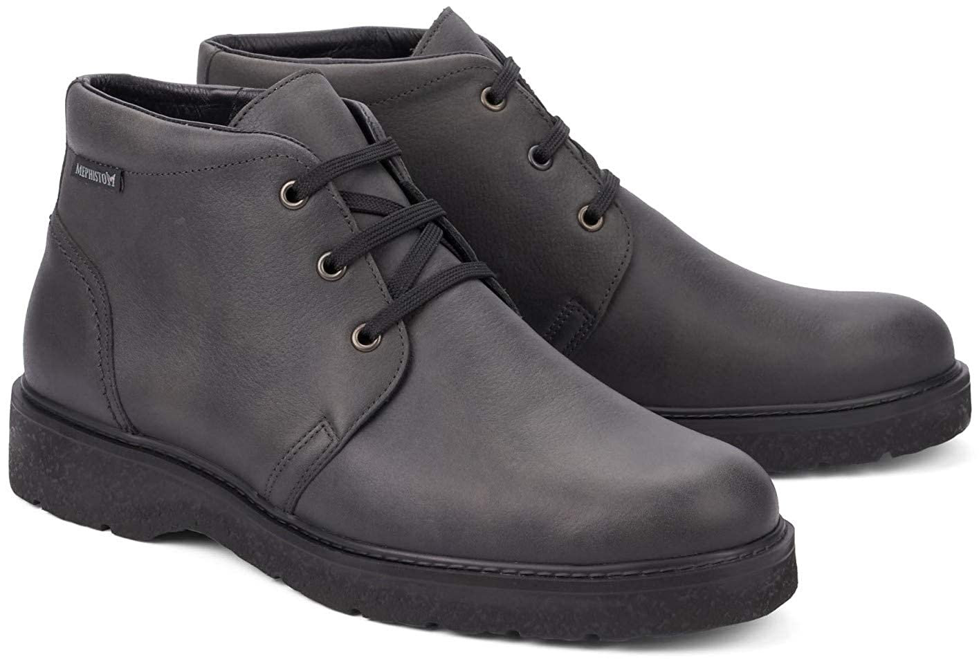 Mephisto Emanuel Leather Winter Winter Winter Stiefel for Men Dark grau b5e31d