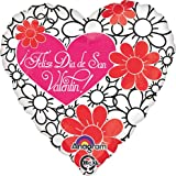 Feliz Dia de San Valentin Floral Balloon - 5 Pieces Floral Balloon LoonBalloon is a USA company and its products sold by authorized sellers