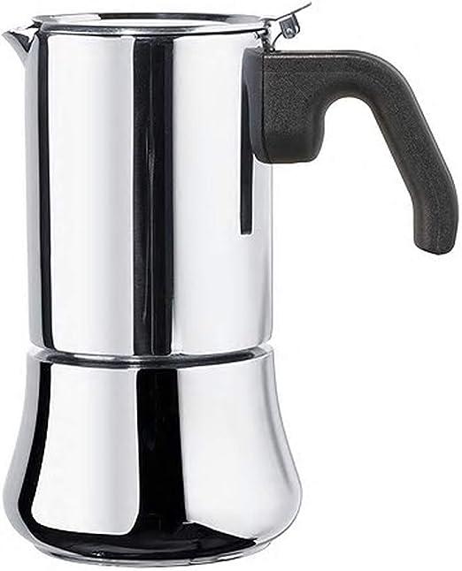Cafetera para 6 tazas de acero inoxidable, tamaño montado, altura ...