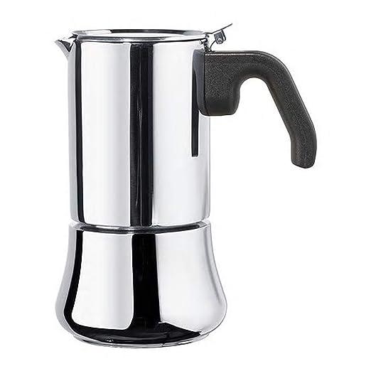 Cafetera para 6 tazas de acero inoxidable, tamaño montado ...
