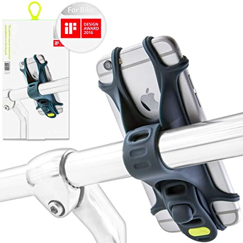 Bike Phone Holder for Smartphones, Patented & Design Award Winning Universal Bicycle Phone Mount, Compatible with Road & Mountain Bikes, and also Motorbikes & Scooters