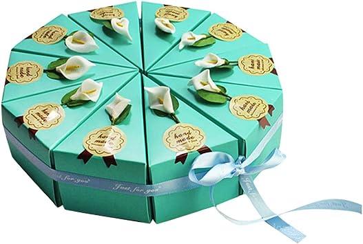 STOBOK Caja de dulces en forma de pastel de triángulo Cajas de azúcar hechas a mano DIY Favores de fiesta para cumpleaños de boda 10 piezas: Amazon.es: Salud y cuidado personal
