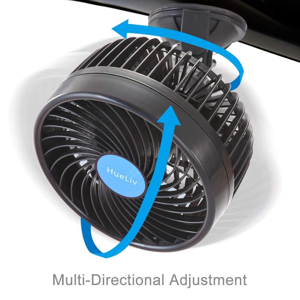 Refroidissant Les Ventilateurs de Voiture 12 V en /ét/é HueLiv Fan de Voiture Ventilateur de Refroidissement dajustement Puissant Silencieux et /à Vitesse de Stepless Rotation Variable 6