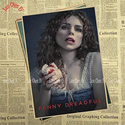 1 piece Horror TV play Penny Dreadful Kraft Paper Poster Cafe Creative wallpaper Interior Decoration -