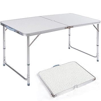 Campingtisch Amazon.Dxp Campingtisch Aus Aluminium Gartentisch Höhenverstellbarer Klapptisch Koffertisch 120 X 60 Cm Praktisches Kofferformat Aft 02