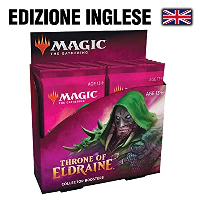 Magic The Gathering CCG: Throne of Eldraine Collector Booster Display (12): Toys & Games