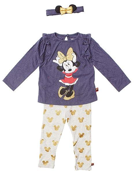 Chicas Disney Minnie Mouse Top Leggings & Conjunto de Diadema Rallas Desde Recién Nacido a 36 Meses