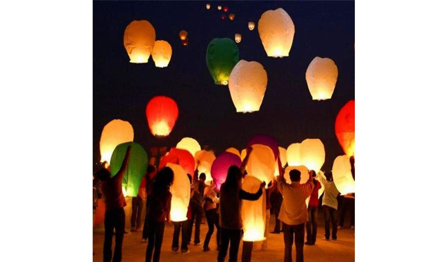 OUTDOOR NATION Sky Lanterns 10-Pack 100% Biodegradable and Environmentally Friendly Multi-Color Assortment for Events, Birthdays, Weddings, Parties, New Years, Memorial Ceremonies and More (10 Pack) by OUTDOOR NATION