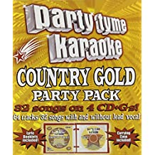 Party Tyme Karaoke - Country Gold Party Pack (32+32-song Party Pack) [4 CD]