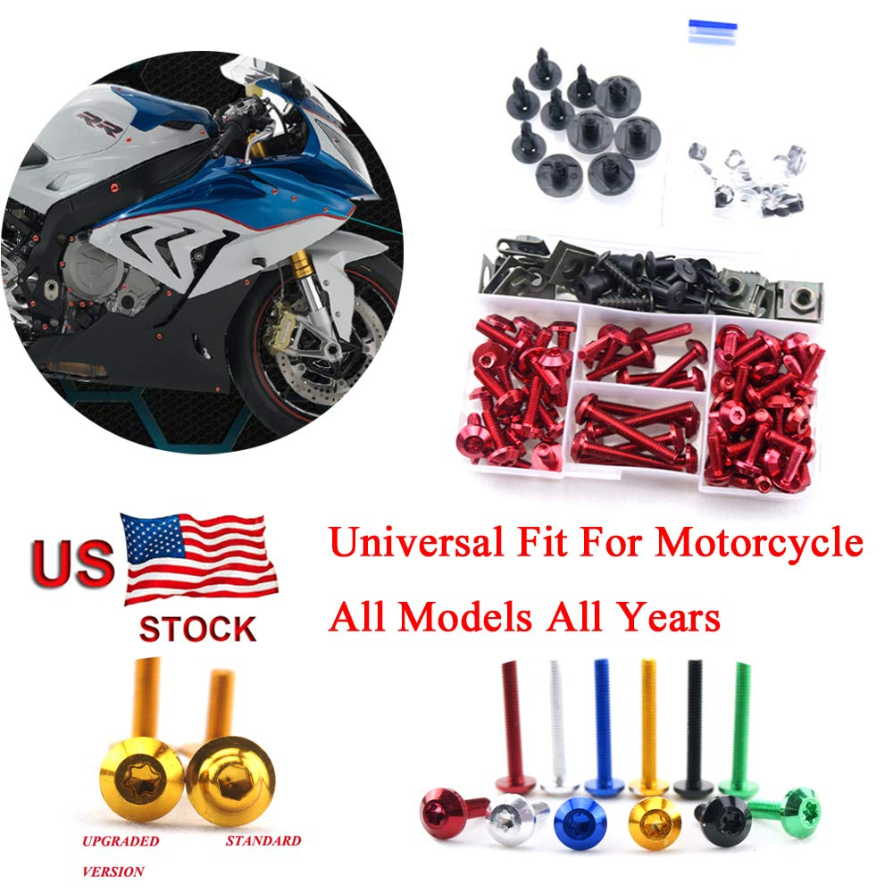 Complete Bolt Motorcycle Fairings Clips Kits 1 Set for Yamaha YZF R1 1998 1999