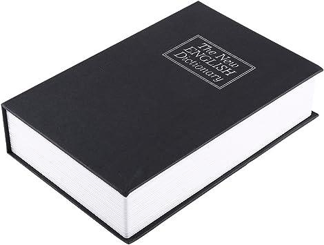 Caja Fuerte en Forma de Libro Estuche Contenedor Interno de Metal ...