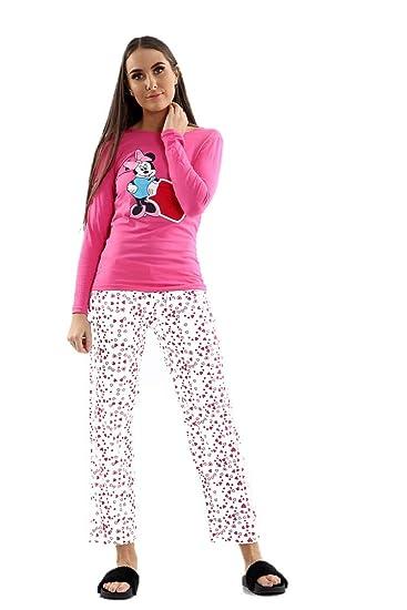 554e6f33ea Snoopy Womens Long Sleeve Pyjama Set Ladies Mickey Minnie Mouse PJ s  Nightwear (S