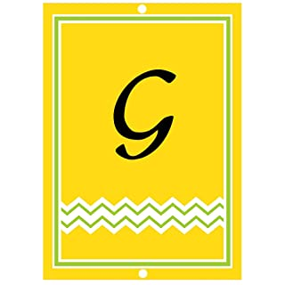 G Initial Monogram Personalized Letter G Room Nursery Décor Metal Sign
