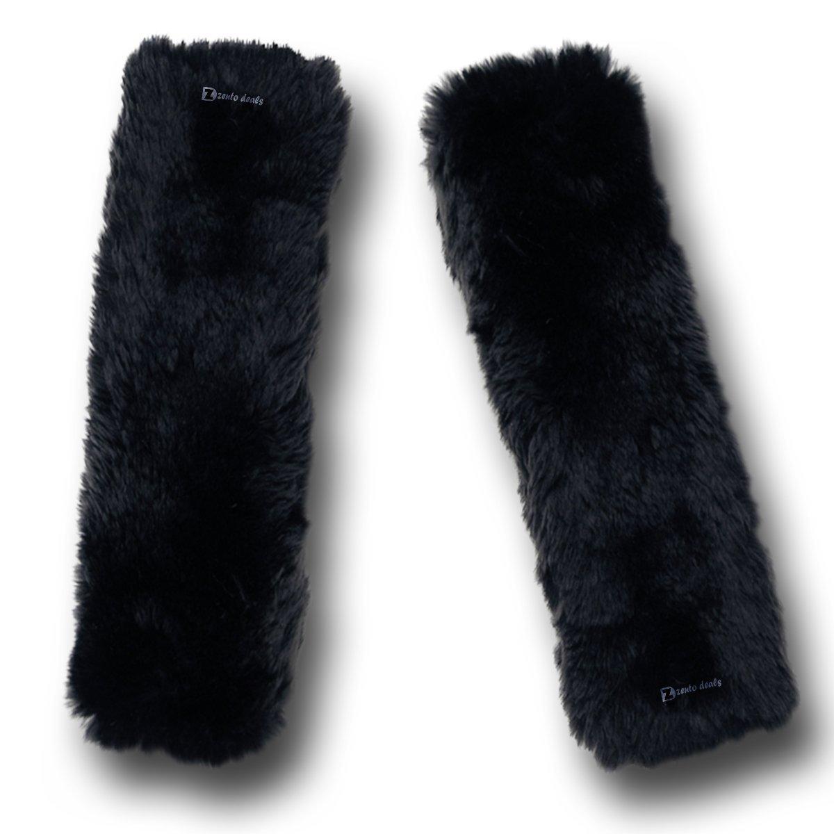 Der weiche, schwarze Schulterpolster von Zento Deals aus Kunstschaffell ist ein Muss fü r alle Autobesitzer, die mehr Fahrkomfort wü nschen. WC8