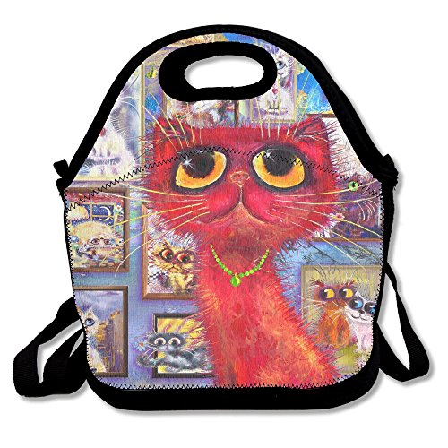 Richard Lyons Red Cat At The Gallery Water Repellent Go To Work Lunch (Gallery Lunch Tote)