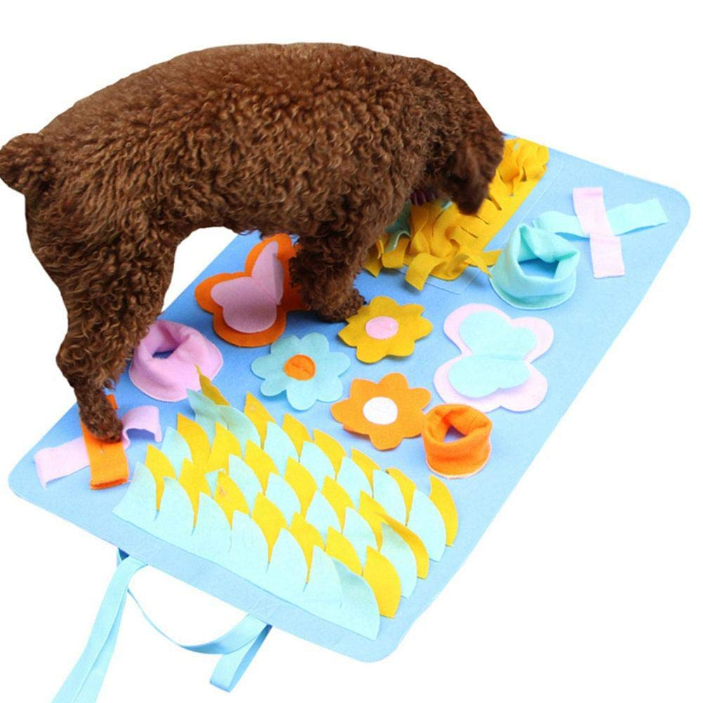 LONG-C Dog Feeding Mat, Dog Snuffle Mat Small/Large Dog Training Pad Pet Nose Work Blanket Non Slip Pet Activity Mat for Foraging Skill, Stress Release