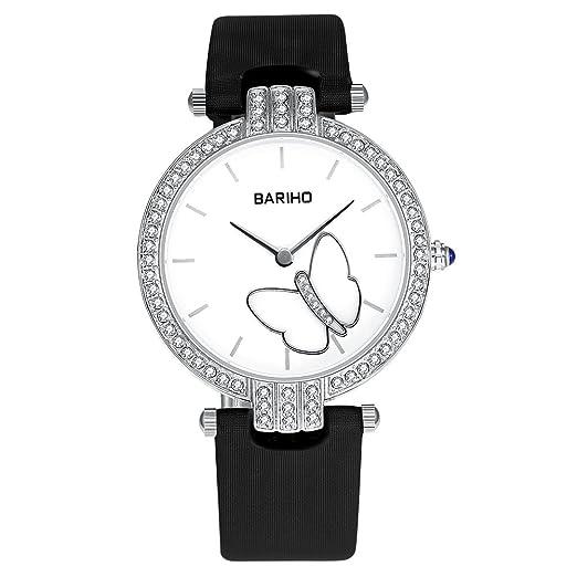 Negro Marca Mujer Reloj Online Shopping Mujeres gesch?FTS de cuarzo de aleación cristal nuevo con umbauten aleación Analog 36 mm redondas: Amazon.es: ...