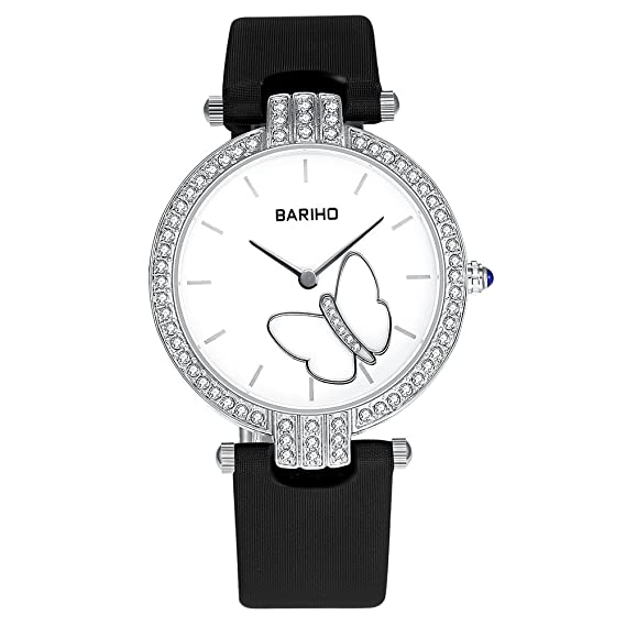 Negro Marca Mujer Reloj Online Shopping Mujeres gesch?FTS de cuarzo de aleación cristal nuevo