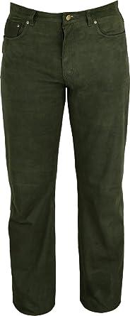 Fuente Leather Wears Pantalones de Caza para Hombre y Mujer- Pantalones de Cuero Tallas Grandes - Verde: Amazon.es: Ropa y accesorios
