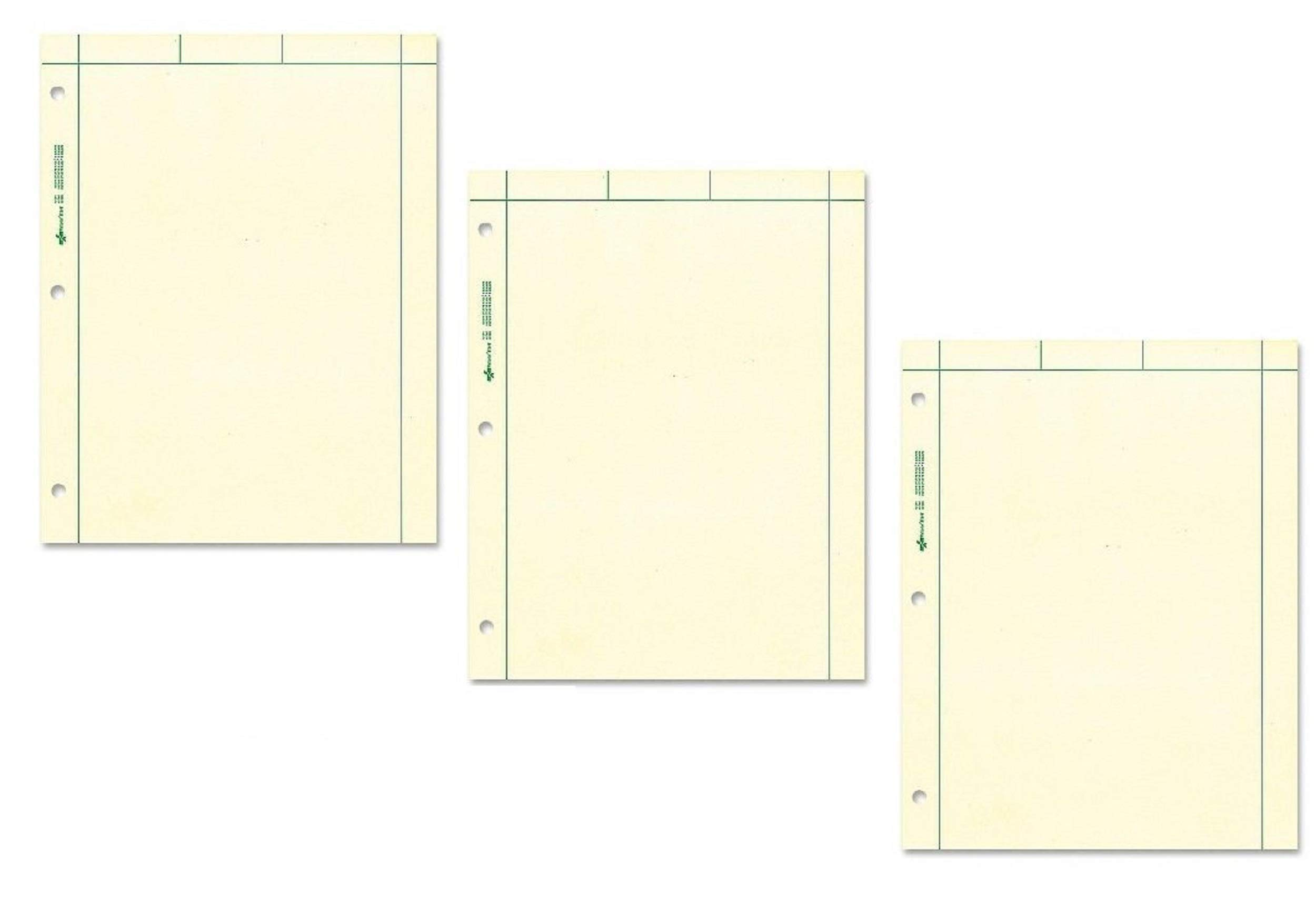 NATIONAL Brand Computation Pad, Plain & 5 X 5 Quad On Back, Green Paper, 8.5 x 11'' 200 Sheets per pack, Sold as 3 Pack, 600 Sheets Total (42389) by National