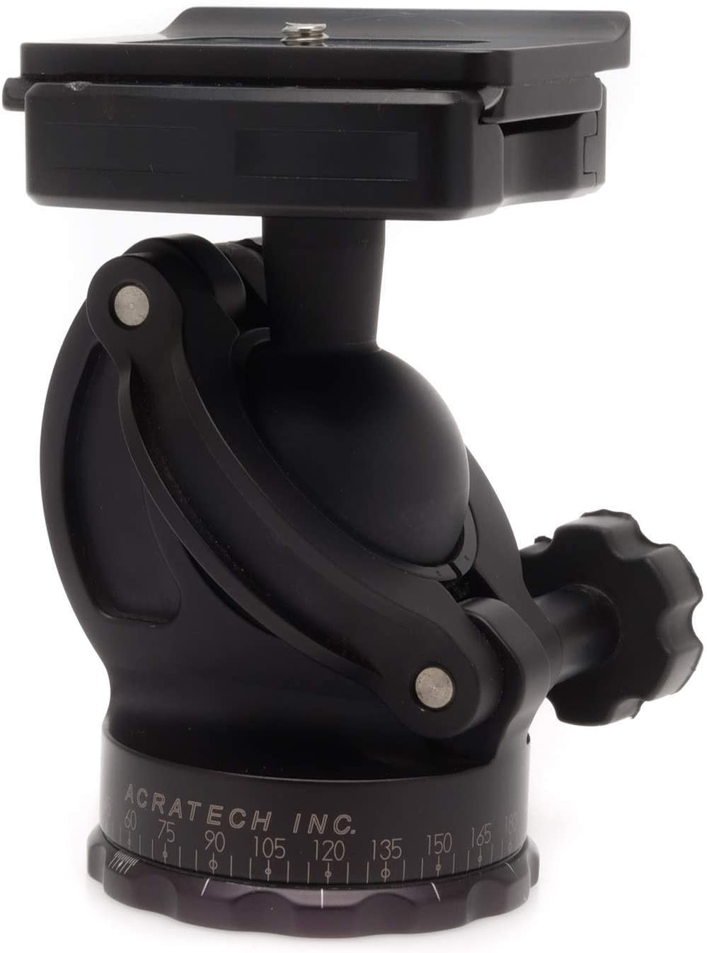 and Pan Knobs with Left Sided Rubber Main // Detent Pin Acratech Ultimate Ballhead with Quick Release Supports 25 lbs.