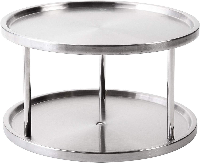 Jiallo WE-HW01 Turntable Organizer, Standard, Silver by Jiallo