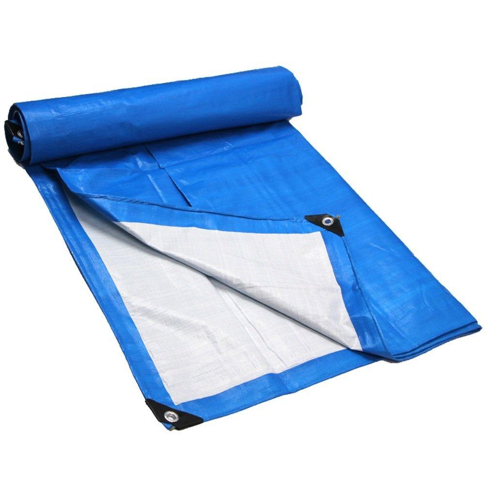 Lixingmingqi 屋外テントターポリンパッド防雨日焼け止めターポリントラック建物防塵防風プラスチック布 青 8x12m