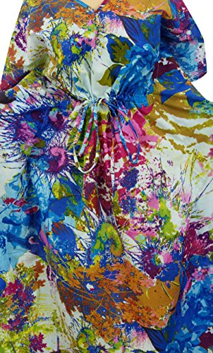Robe Designer imprim Caftan Kaftan Nuit Maxi Phagun Coverup en coton Multicolore Femmes RznHHq4Z