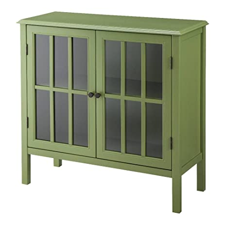Amazon.com: Threshold Windham 2 Door Accent Cabinet (Green ...