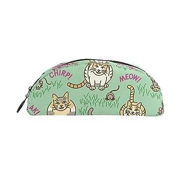 TIZORAX - Estuche para lápices, diseño de gatos y gatitos: Amazon.es: Oficina y papelería