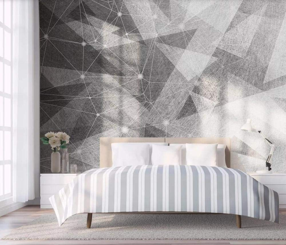 Papel Pintado 3D L/íneas Geom/étricas Abstractas Simples En Blanco Y Negro Fotomurale 3D TV Tel/ón De Fondo Pared Decorativos Murales Moderna 250x175cm