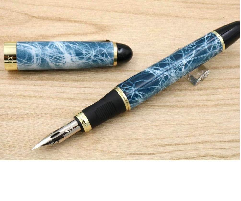 Pluma de caligraf/ía inglesa en el cuerpo redondo sumergida en la punta de un c/írculo JINHAO 450 Engravers Script G NIB pluma estilogr/áfica