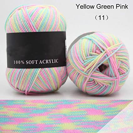 Ovillo de lana artificial para bebé, suave, de algodón de leche ...