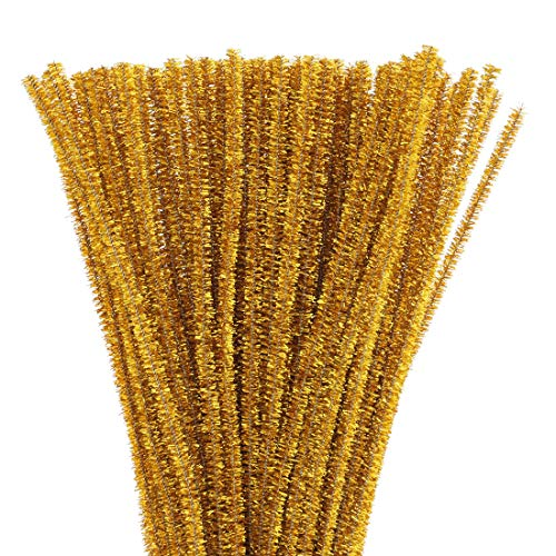 Juvale Gold Chenille Stems Pipe Cleaners for DIY Crafts (500 Count)