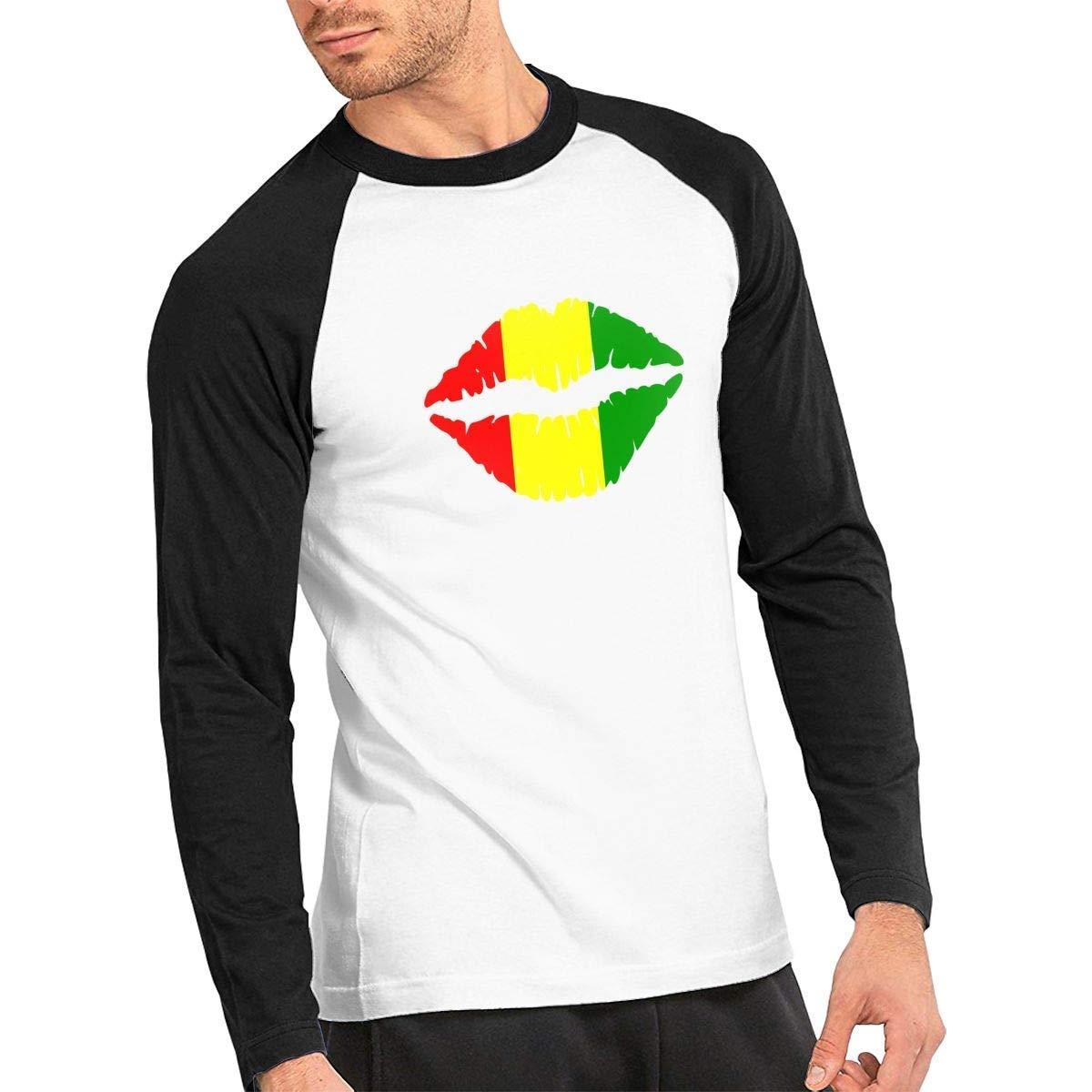Baostic Camisetas y Tops Hombre Polos y Camisas, Reggae Rasta Lips ...