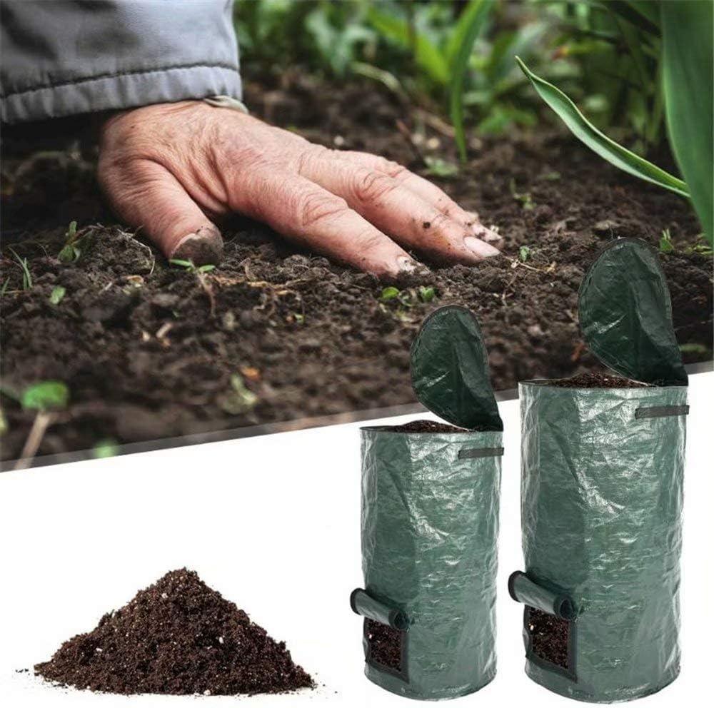 Lunaer Contenedor de Compost de 2 Paquetes para jardín, Bolsa de compostaje de Bolsa de Compost de PE de fermento orgánico casero: Amazon.es: Jardín