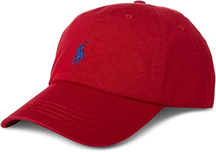Polo Ralph Lauren - Gorra de béisbol - Rojo con Logo Azul Marino ...