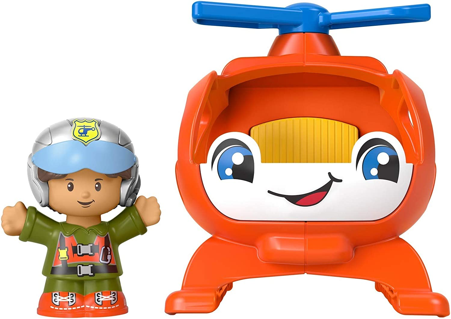 Toy Vehicle and Figure Set for Toddlers and Preschool Kids Ages 1-5 Years Fisher-Price Little People Helicopter